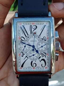 Jam tangan autometic franck muller tali kulit