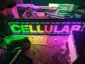 running text bandung 17 neon box