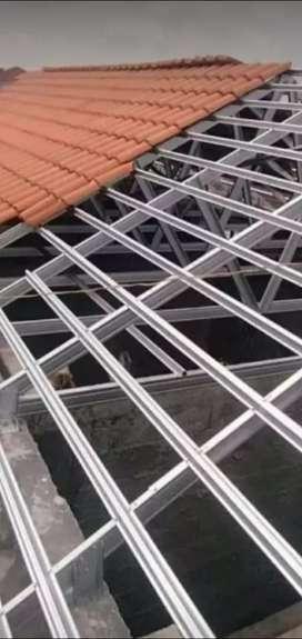 Menerima pemasangan atap baja ringan terpasang bergaransi