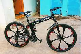 Latest Ferrari Foldable 21 Gears Shimano Cycle & Dual Disc Brakes