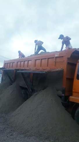 Jual bahan material pasir,batu kali,splite,bata merah,basecouse dll