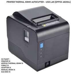 Printer Thermal kasir 80mm A820 Autocutter EPPOS [free kertas]-USB LAN