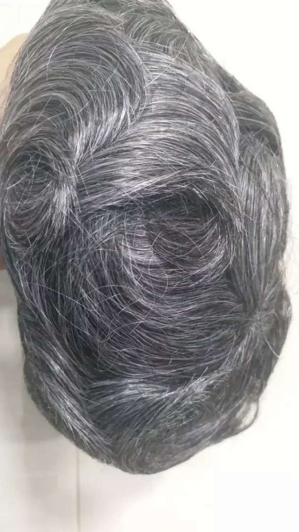 Grey hair unite with 30%white hairs 0
