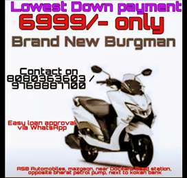 Brand New Burgman at lowest Down-payment