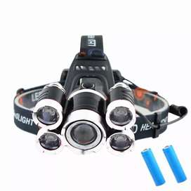 Headlamp Light Cree XM-L T6 + 4 XPE 40000 Lumens 1x18650+Charger