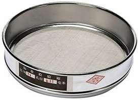 Lab Standard Test Sieve Mesh Stainless Steel 8 inch dia 12 inch dia