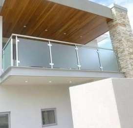Sartika stel $5270 nerimh pemasangan balkon stainlis kaca