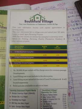 60,000/- per Katha Land available for sale near Dhamua on village Road