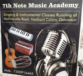 Music Classes in Dehradun Best music academy  7th Note Music Academy