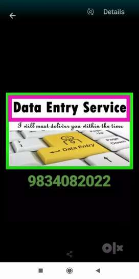 Hiring back office data entry operator call us