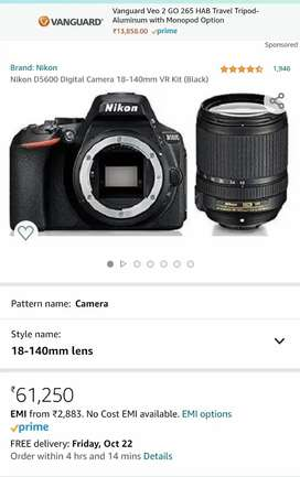 Brand new Nikon 5600D in 22k Cheaper with bill and box & 18-140mm lens
