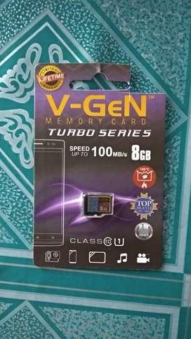 Memory MicroSD V-Gen 8GB Original Class 10, 100% Baru