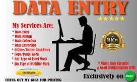 Data Entry (back-office)