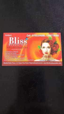 Wanted beautician staff Male n female