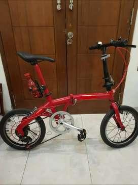 """Sepeda lipat Aleoca cartila 16"""" upgrade"""