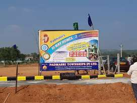 Highway facing open plots for sale at srisailam highway maisigandi