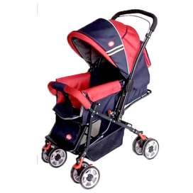 Infantes Baby Stroller Red & Purple