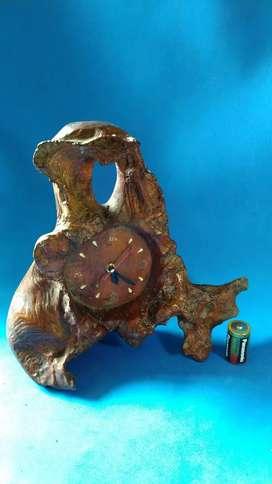 jam akar kayu jati etnik jadul vintage antik lawas kuno rare langka