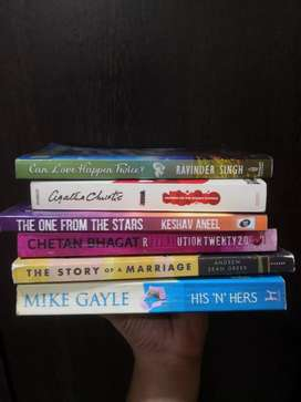 Novels from authors: Agatha Christie, ravinder sign, chethan, Andrew