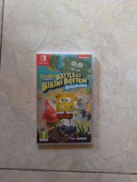 Jual game nintendo switch spongebob battle for bikini bottom