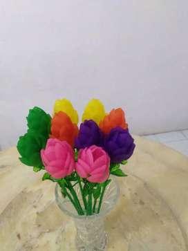 Bunga tulip akrilik bsr