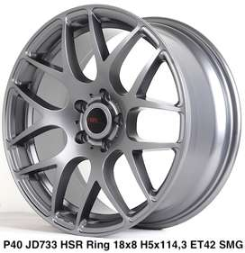 velg replika P40 JD733 HSR Ring 18 pcd 5X114,3 warna SMG