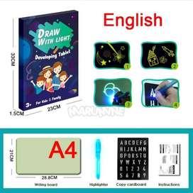 Mainan edukasi  papan untuk menggambar terang dalam gelap luminous dra
