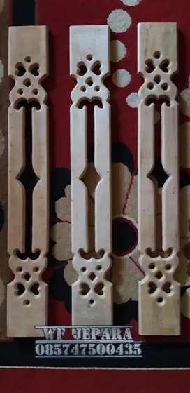 Pagar tangga kayu mahoni