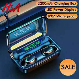 H&A Bluetooth V5.0 Earphones Wireless Headphones With Microphone