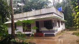 17 cent land with 1400 sqft house at kanjoor,near airport,aluva,kalady