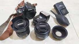 Nikon D3200 VRII + Lensa Yongnuo dan Nisi Converter