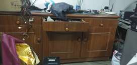 Counter computer table cabinet with drawer