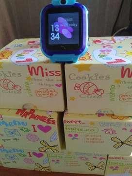 jam tangan anak tahan air q12 imoo warna biru dan pink
