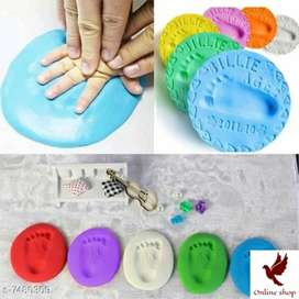 Foot and hand print clay kit