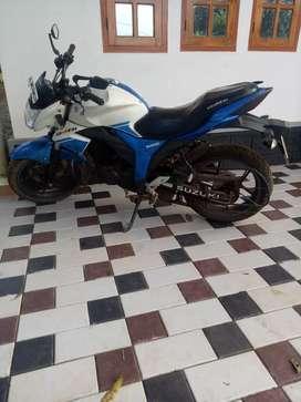 Naked gixxer white blue dual colour