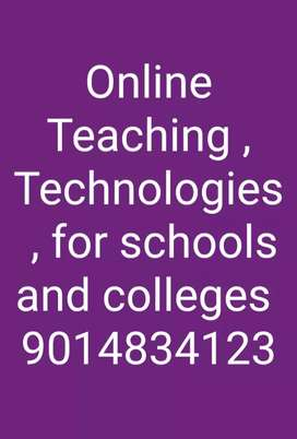 Online teaching Technolgies , for schools and colleges