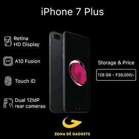 Iphone 7+ -128gb @35000₹