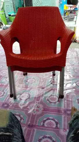 4 chairs Rattan pipe pure plastic