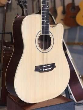 Gitar Akustik Jumbo Natural wood