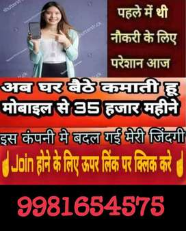 Job all over India in your home