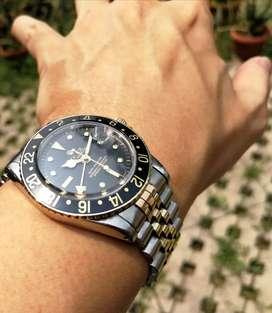 Ori 60s Rolex Oyster Perpetual GMT Master 1675 black nipple Gilt Dial
