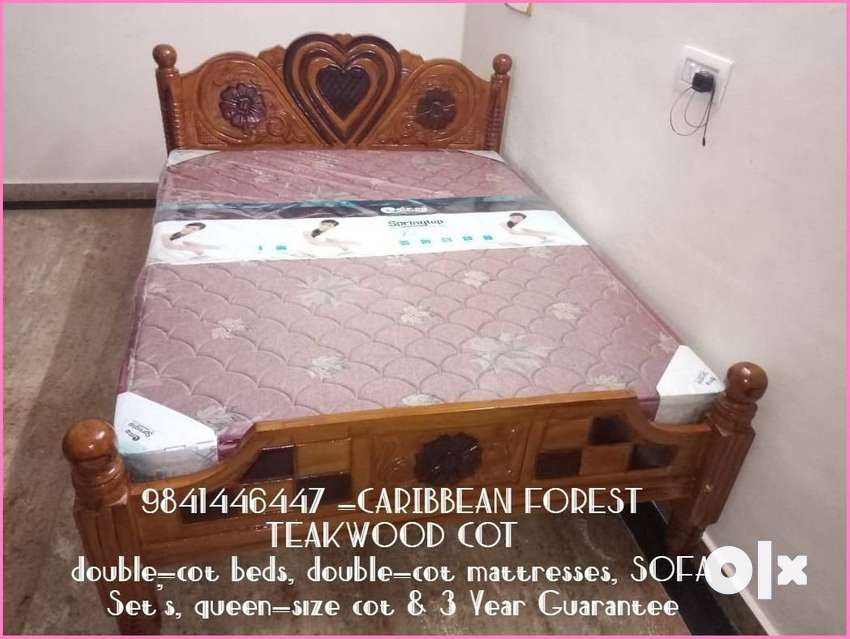 QUEEN SIZE Caribbean Forest Teak Wood STRONG Build COT with Wholesale 0