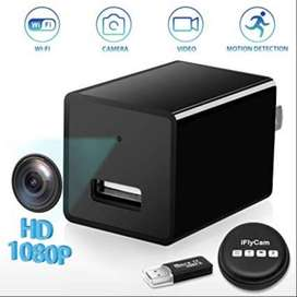 WiFi 1080P Mini Charger Spy Camera