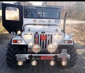 Modified Willy white jeep