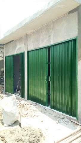 Folding gate rolling door tanpa dp