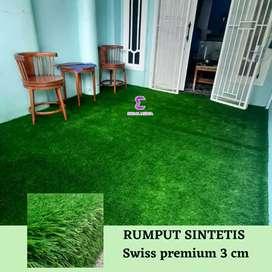 Rumput sintetis swiss premium 3cm Taman indoor dan outdoor