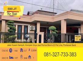 [DIJUAL BISA CASH / KPR] Rumah Pribadi Husein Hamzah