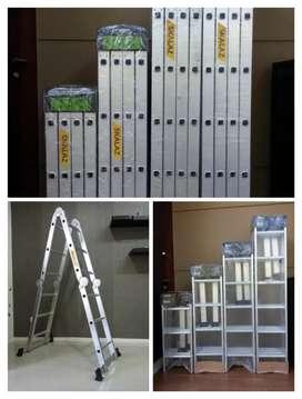 Tangga aluminium multifungsi murah, tangga lipat Multifungsi murah