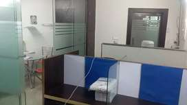 furnished office area