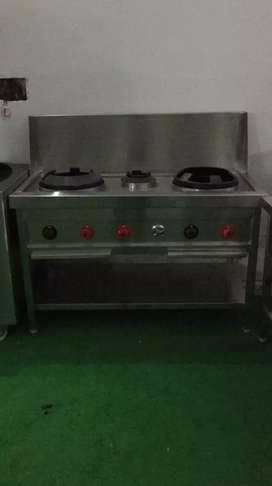 Used restaurant commercial kitchen equipment ss burner bhatti range